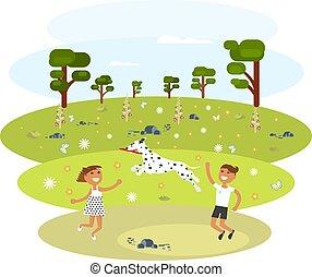 Children with Dalmatian