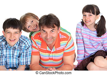 Children with father