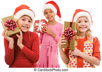 Children with gifts