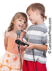Children with microphone