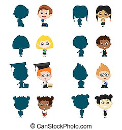 Children with silhouettes