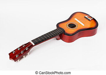 Children's Acoustic Guitar on a white background