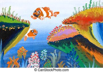 Children's Art - Marine Life