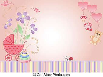 children's background - a girl - children's background, the...