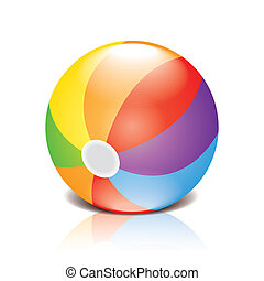 Children's ball vector illustration