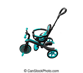 Children's beautiful bicycle isolated on a white background.
