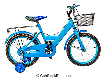 children's bicycle isolate white background with clipping path