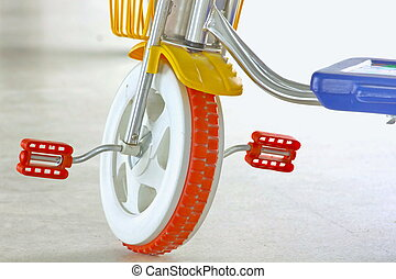 Children's bicycles.
