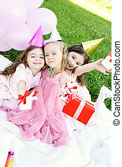 Childrens Birthday Party outdoors