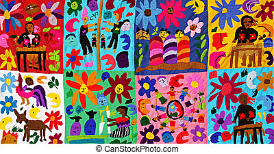 Children's blanket. - Children's blanket, handmade by...