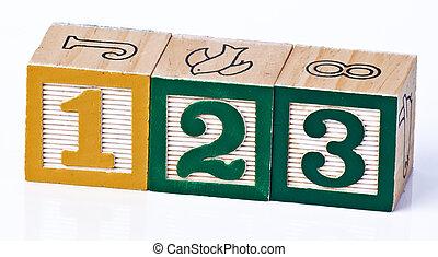 Children's Block Numbers 123