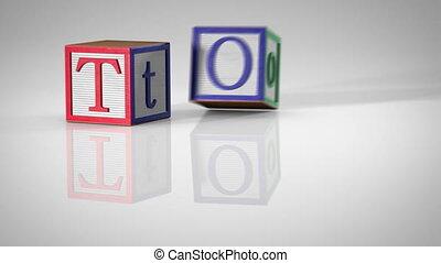 """Children's Blocks Spelling """"TOYS"""""""
