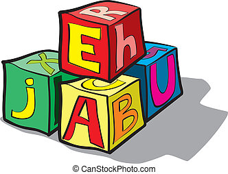 children's blocks with letters