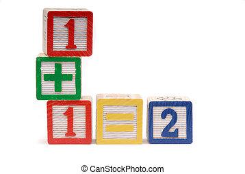 Childrens Building Blocks, To Teach Math Skills,Isolated...