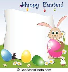 Children's card for Easter