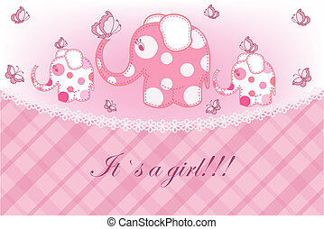 childrens card for the girl
