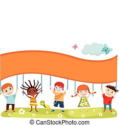 childrens card - vector illustration of a childrens card