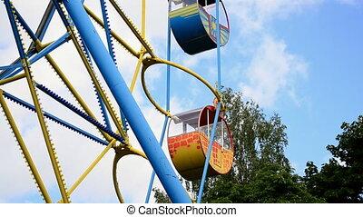Children's Carousel against the blu
