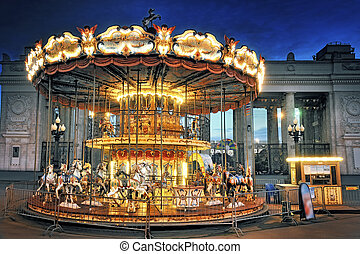 Children's Carousel at the Park of Culture. Gorky. Moscow
