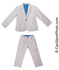 Children's clothes on a white isolated background