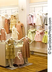 Children's Clothing Shop - Image of children's clothes in a ...