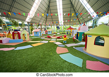childrens, colorido, patio de recreo
