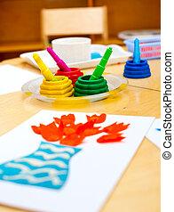 childrens, criatividade, conceito