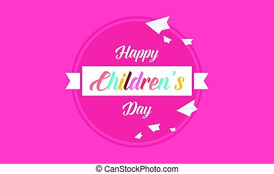 Childrens day style cute banner