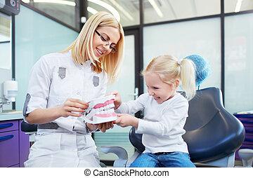 Children's dentist - Little patient at the dentist's office