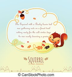 Children's Fanciful Storybook Text Frame and Background