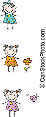 Childrens - Girls - collection of small girls - in 3...