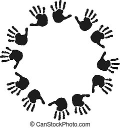 Children's Hand prints