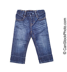 children's jeans on a white background