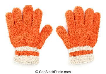 Children's knitted woolen glove