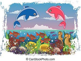 Children's maritime cover design ve