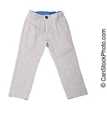 pants - Children's pants on a white background isolated