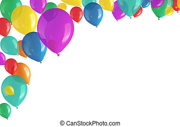 colorful balloons - Children's party colorful balloons on ...