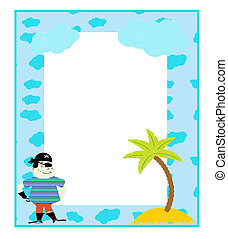 Children\'s photo framework vector