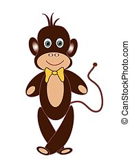 Childrens picture with monkey