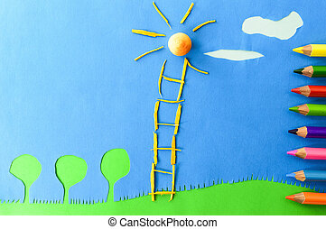 children`s play :staircase to sun