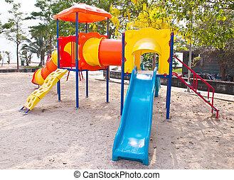 Children's playground at public park