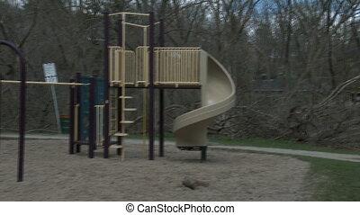 Children's playground in a park