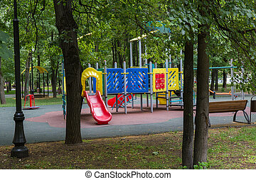 Children's playground in a residential area