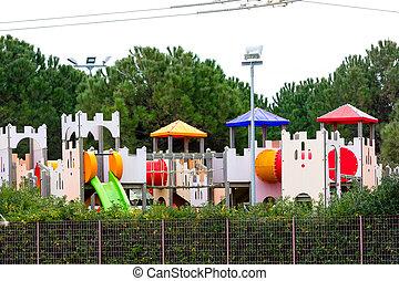 Children's playground in the city