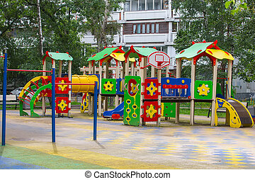 Children's playground multicolored