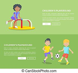 Childrens Playground Set of Posters with Text