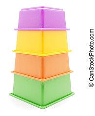Children's pyramid on a white background