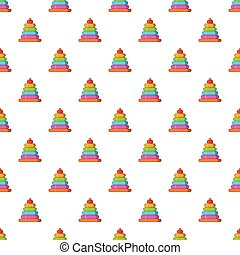 Childrens pyramid pattern, cartoon style