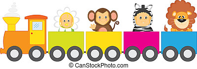 Children\'s Railway. children dressed as animals