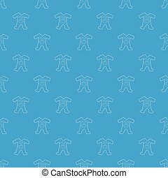 Childrens romper suit pattern vector seamless blue repeat...